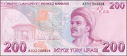 200 Turkish Lira – reverse