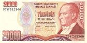 20,000 Lira – obverse