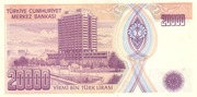 20,000 Lira – reverse