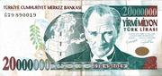 20,000,000 Lira – obverse