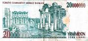 20,000,000 Lira – reverse