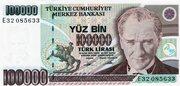 100,000 Lira – obverse