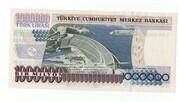 1,000,000 Lirasi – reverse