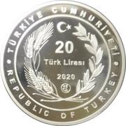 20 Lira (Grand Hagia Sophia Mosque) – obverse