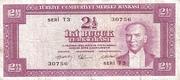 2 1/2 Lira (brown reverse) – obverse