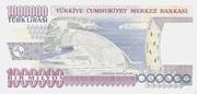 1,000,000 Lira – reverse