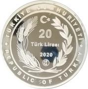 "20 Lira (Forestry ""Breath for the Future"") – obverse"