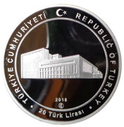 20 Lira (150th anniversary of the Council of State) – obverse