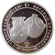 20 Lira (Unesco - World Heritage Year of Troy) – obverse