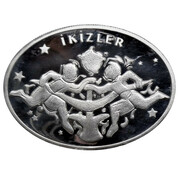 25 Yeni Lira (Zodiac - Gemini) – reverse