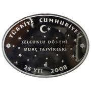 25 Yeni Lira (Zodiac - Taurus) – obverse