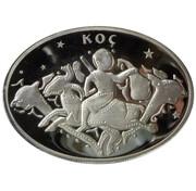 25 Yeni Lira (Zodiac - Aries) – reverse