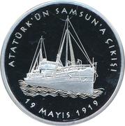 20 Lira (100th anniversary of Ataturk's departure to Samsun) – reverse