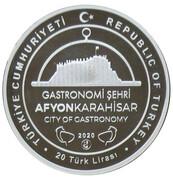 20 Lira (Afyonkarahisar - Gastronomy City) – obverse