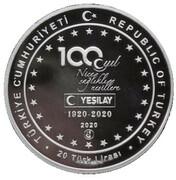 20 Lira (100th Anniversary of the Green Cross Organisation) – obverse