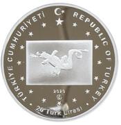 20 Lira (The Hun Empire) – obverse