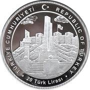 20 Lira (100th Anniversary of Gaziantep) – obverse