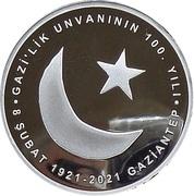 20 Lira (100th Anniversary of Gaziantep) – reverse