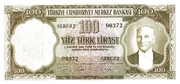 100 Lira (Blue reverse) – obverse