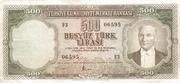 """500 Lira (Without """"SERİ"""") – obverse"""