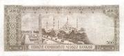 """500 Lira (Without """"SERİ"""") – reverse"""