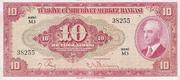 10 Lira (Red) – obverse