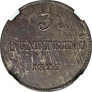 3 Quattrini - Leopoldo II – reverse