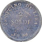 2 Soldi - Charles Louis – reverse