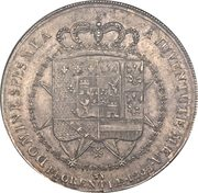10 Lire - Charles Louis (1st type) – reverse