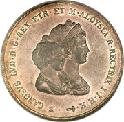 10 Lire - Charles Louis (2nd type) – obverse