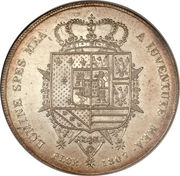10 Lire - Charles Louis (2nd type) – reverse