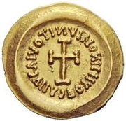1 Tremissis - In the name of Heraclius, 610-641 (Realistic bust; regular head with stars) -  reverse
