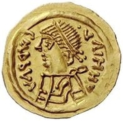 1 Tremissis - In the name of Heraclius, 610-641 (Line bust; facing left) – obverse