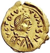 1 Tremissis - In the name of Constans II, 641-668 (Short cross) – obverse