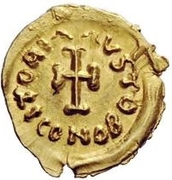 1 Tremissis - In the name of Constans II, 641-668 (Short cross) – reverse