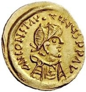 1 Tremissis - In the name of Constans II, 641-668 (Long cross) – obverse