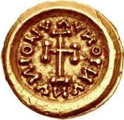 1 Tremissis - In the name of Meaningless Legend (Torso with ten sections; with R) -  obverse