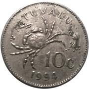 10 Cents - Elizabeth II (3rd portrait) – reverse