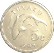 5 Cents - Elizabeth II (2nd portrait) – reverse