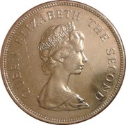 50 Cents - Elizabeth II (2nd portrait) – obverse
