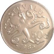 50 Cents - Elizabeth II (2nd portrait) – reverse