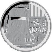10 Cents - Elizabeth II (Ned Kelly) – reverse