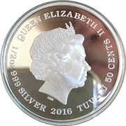 50 Cents - Elizabeth II (Ocean Fairy) – obverse