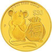 30 Dollars - Elizabeth II (Year of the Mouse - Prosperity)
