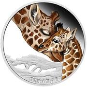 50 Cents - Elizabeth II (Giraffe) – reverse