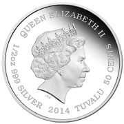 50 Cents - Elizabeth II (Lioness) – obverse