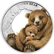 50 Cents - Elizabeth II (Brown Bear) – reverse