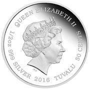 50 Cents - Elizabeth II (Snow Leopard) – obverse