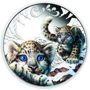 50 Cents - Elizabeth II (Snow Leopard) – reverse