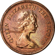 1 Cent - Elizabeth II (2nd portrait) – obverse